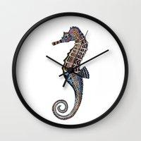 seahorse Wall Clocks featuring Seahorse by SilviaGancheva