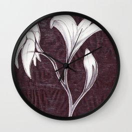 Wilted  Wall Clock