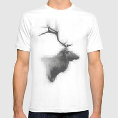 Mystic Elk Mens Fitted Tee White MEDIUM