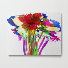 Belle Anemoni or Beautiful Anemones Metal Print