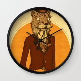 {Bosque Animal} Lince Wall Clock