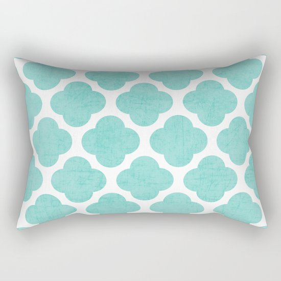teal clover Rectangular Pillow