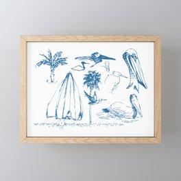 Florida Sketchbook 1 Framed Mini Art Print