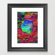 Glitch Cubed no.2 Framed Art Print