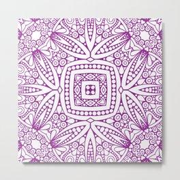 Mindful Mandala Pattern Tile MAPATI 88 Metal Print