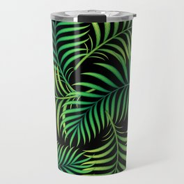 Night Jungle. Tropical Pattern / Palm leaves Travel Mug