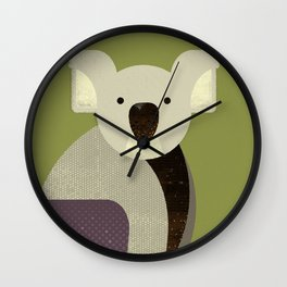 Whimsy Koala Wall Clock
