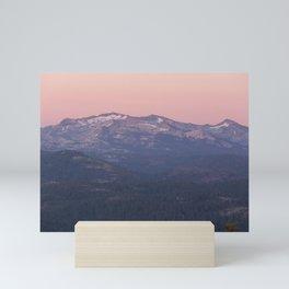 Sierra Nevada Mountains at Sunset Mini Art Print