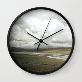Tibetan Plateau Wall Clock
