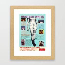 HUSTLER WHITE Framed Art Print