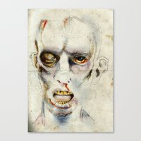 zombie Canvas Prints featuring Zombie by Michael Scott Murphy