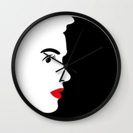 Profile of Marylin in Black and White Wall Clock