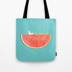 duckies and watermelon Tote Bag