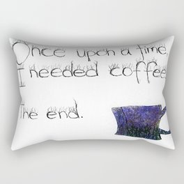 Once Upon a Coffee Rectangular Pillow
