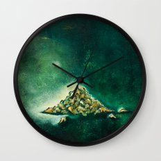Pile of leaves Wall Clock