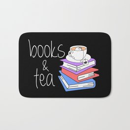 Bookworm Books and Tea - Inverted Bath Mat