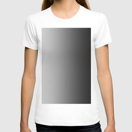 Gray to Black Vertical Linear Gradient T-shirt