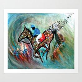 Blue Dream In The Ocean In Abstract Modern Art Print