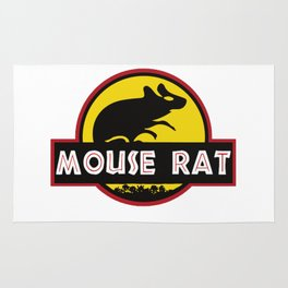 mouse rat logo jurasic parody Rug