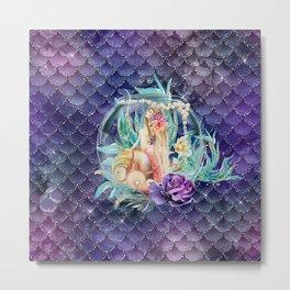 Mermaid in a Fish Bowl Metal Print