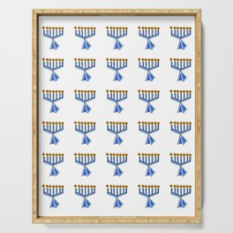 menorah 7,Hanukkah,jewish,jew,judaism,Festival of Lights,Dedication,jerusalem,lampstand,Temple, מְנו Serving Tray