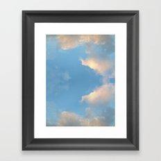 Cloud mirror Framed Art Print