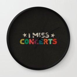 I Miss Concerts (BLACK) Wall Clock