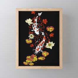 FALLING FISHES Framed Mini Art Print