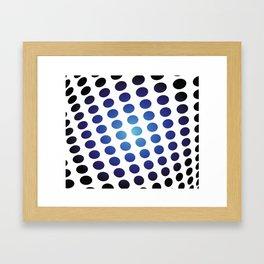 BLACK AND BLUE CIRCLES Abstract Art Framed Art Print