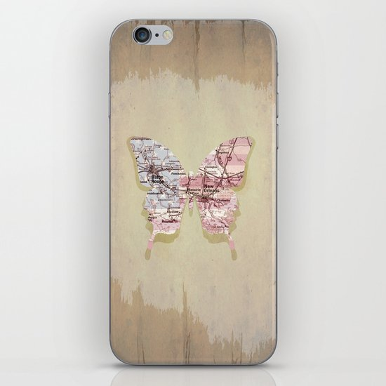 New Orleans butterfly iPhone & iPod Skin