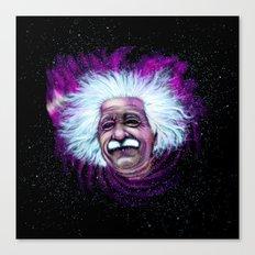 Albert Einstein Nebula Canvas Print