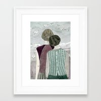 planes Framed Art Prints featuring Paper Planes by Yuliya