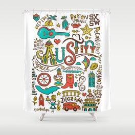 Austin Icons Shower Curtain