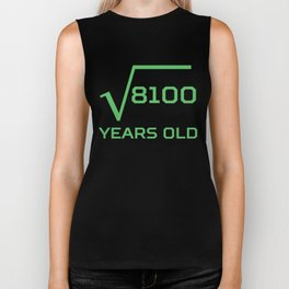 Square Root Of 8100 Funny 90 Years Old 90th Birthday Biker Tank