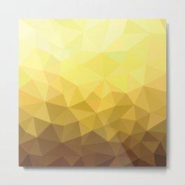 Golden Luxury Metal Print