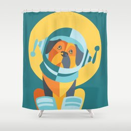 One Giant Leap for All Muttkind Shower Curtain
