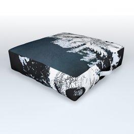 Forest Wolf Art Outdoor Floor Cushion