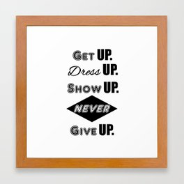 GET UP - WHITE Framed Art Print