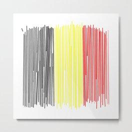 Belgian flag Metal Print