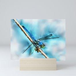Blue Dragonfly Mini Art Print