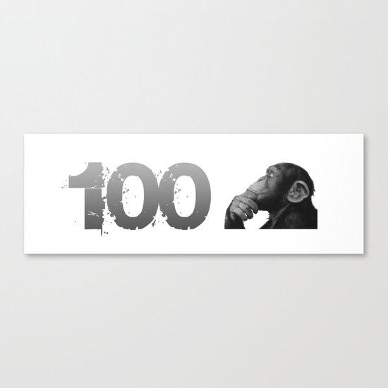 100th Monkey Canvas Print
