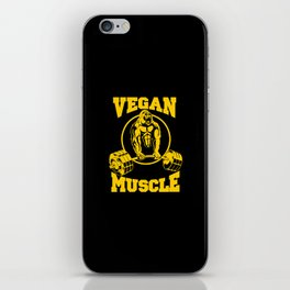 Vegan Muscle iPhone Skin