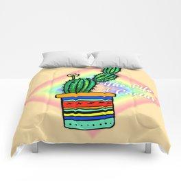 Cactus Drawing Comforters