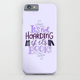 Book Hoarder - Purple iPhone Case