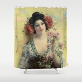 Vintage Geisha Shower Curtain