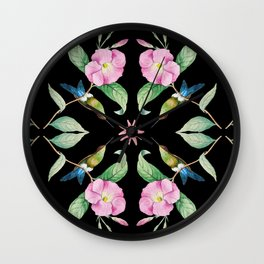 Hummingbird with blue tail Wall Clock