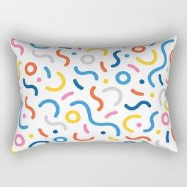 Memphis Inspired Pattern Rectangular Pillow