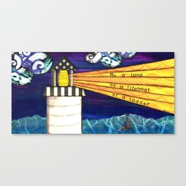 Be a Lamp Canvas Print