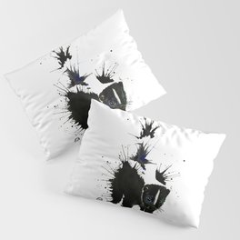 Skunk - Ink Blot Pillow Sham