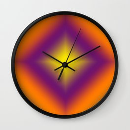 Gradient pattern 7 Wall Clock
